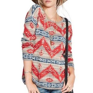 NWT Denim & Supply Ralph Lauren Printed Sweater